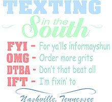 Nashville Texting in the South  Photographic Print