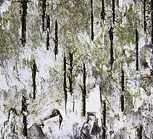 """Rebirth of a Forest"" Abstract On Bark by Laurie Minor"