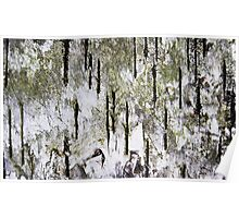 """""""Rebirth of a Forest"""" Abstract On Bark Poster"""