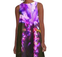 One Lavender Flower A-Line Dress