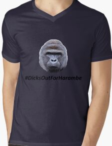 Harambe Mens V-Neck T-Shirt
