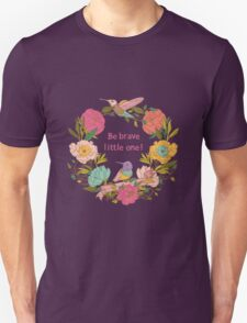Vector floral patterns with birds and flowers T-Shirt