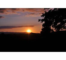 The sun was setting over hills of Tipperary  Photographic Print
