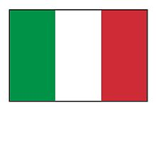Italian Flag, The Flag of Italy, Bandiera d'Italia, pure & simple by TOM HILL - Designer