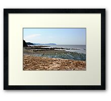 Coastline at Watchet, Somerset, UK Framed Print