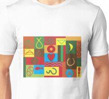 Colourfull Symbols. Unisex T-Shirt