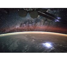 Lightning Strike From Space Photographic Print