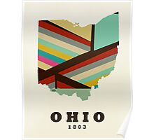 ohio state map Poster