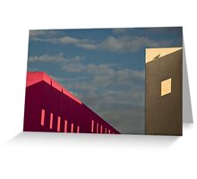Playful shadows on museum walls Greeting Card