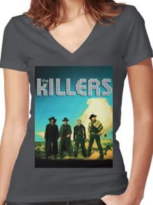 THE KILLERS Women's Fitted V-Neck T-Shirt