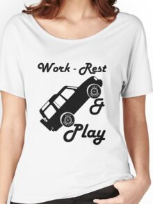 Mars Work Rest Play Land Rover (Parody) Women's Relaxed Fit T-Shirt