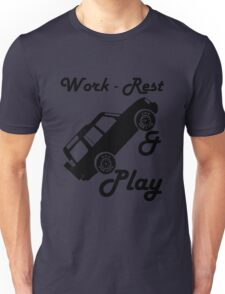 Mars Work Rest Play Land Rover (Parody) Unisex T-Shirt