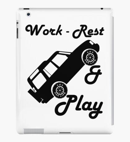 Mars Work Rest Play Land Rover (Parody) iPad Case/Skin