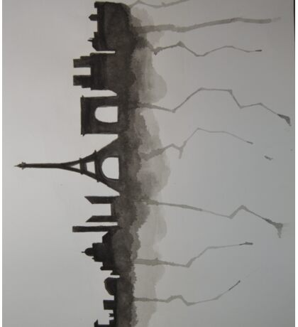parisian skyline  Sticker