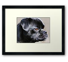 """Pug Mug ~ In Profile"" Framed Print"