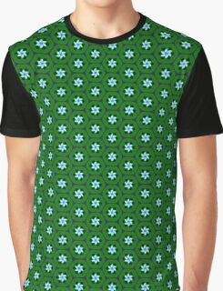 Lime Retro Crescent Flower Graphic T-Shirt