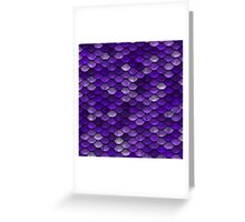 Purple Scales Greeting Card