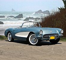 1956 Chevrolet Corvette Convertible 'Pacific Coast' by DaveKoontz