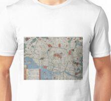 Vintage Map of Tokyo Japan (1850) Unisex T-Shirt