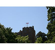 Union Jack flying over Dunster Castle Photographic Print
