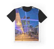 Evening Walk On The Kurilpa Bridge Graphic T-Shirt
