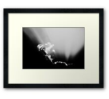 Sunbeam & Clouds Framed Print