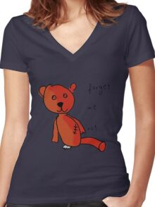 Never forget Teddy. Women's Fitted V-Neck T-Shirt