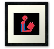 Spider Gentleman Reads Framed Print