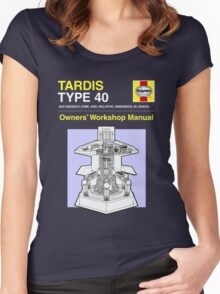 TARDIS - Type 40 - Owners' Manual Women's Fitted Scoop T-Shirt