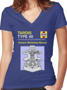 TARDIS - Type 40 - Owners' Manual Women's Fitted V-Neck T-Shirt