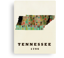 tennessee state map Canvas Print