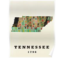 tennessee state map Poster
