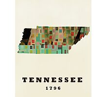 tennessee state map Photographic Print
