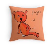Never forget Teddy. Throw Pillow
