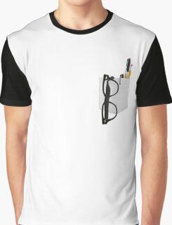 Pencil Pocket Graphic T-Shirt