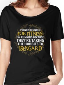 LOTR - I'm Running Because for Fitness... Women's Relaxed Fit T-Shirt