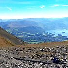 Keswick View from Skiddaw, Lake District Nat. Park, UK by GeorgeOne