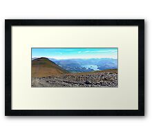Keswick View from Skiddaw, Lake District Nat. Park, UK Framed Print