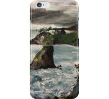 "Oregon Coast, West Coast America Acrylic Painting On 11"" x 14"" Canvas Board iPhone Case/Skin"