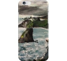 "Oregon Coast, West Coast America Acrylic Painting On 11"" x 14"" Canvas Board iPhone Case/Skin"