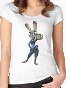 Judy Hopps (Zootopia) Women's Fitted Scoop T-Shirt