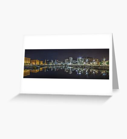 Salthouse Dock Liverpool Panoramic Greeting Card