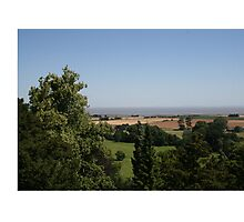 View of the Bristol Channel from Dunster Castle Photographic Print
