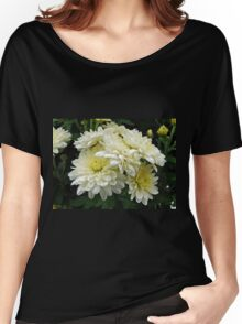 White Mums I Women's Relaxed Fit T-Shirt