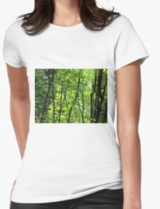 Swedish jungle-like environment Womens Fitted T-Shirt