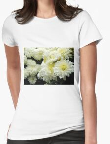 White Mums II Womens Fitted T-Shirt