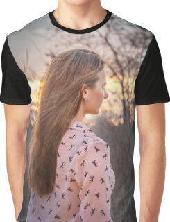 Susan Sunset Graphic T-Shirt