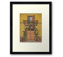Italian door Framed Print