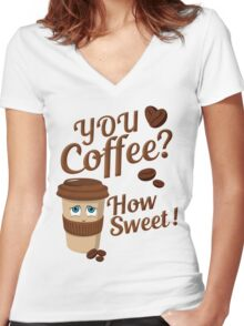 Coffee Lover Women's Fitted V-Neck T-Shirt