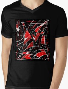 Red and black abstraction  Mens V-Neck T-Shirt